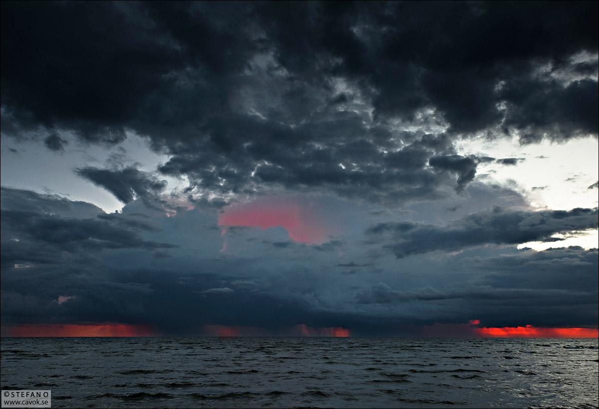 Glödande horisont - Öresund.