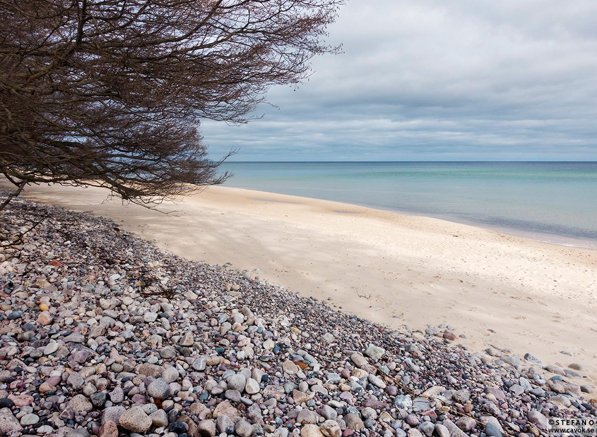 Rörums strand i februari